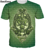 Pokemon Weed Leaf Snorlax Fashion 3D Men T-Shirt Women Dragon Ball Anime Hot
