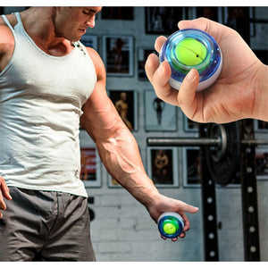 LED Wrist Ball Trainer Gyroscope Strengthener Gyro Power Ball Arm Exerciser Exercise Machine Gym powerball Fitness Equipment