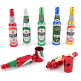 New Design Mini Beer Smoking Metal Herb Tobacco Pipes Portable Creative Gifts 5 Random Colors Tube Pipes Accessories