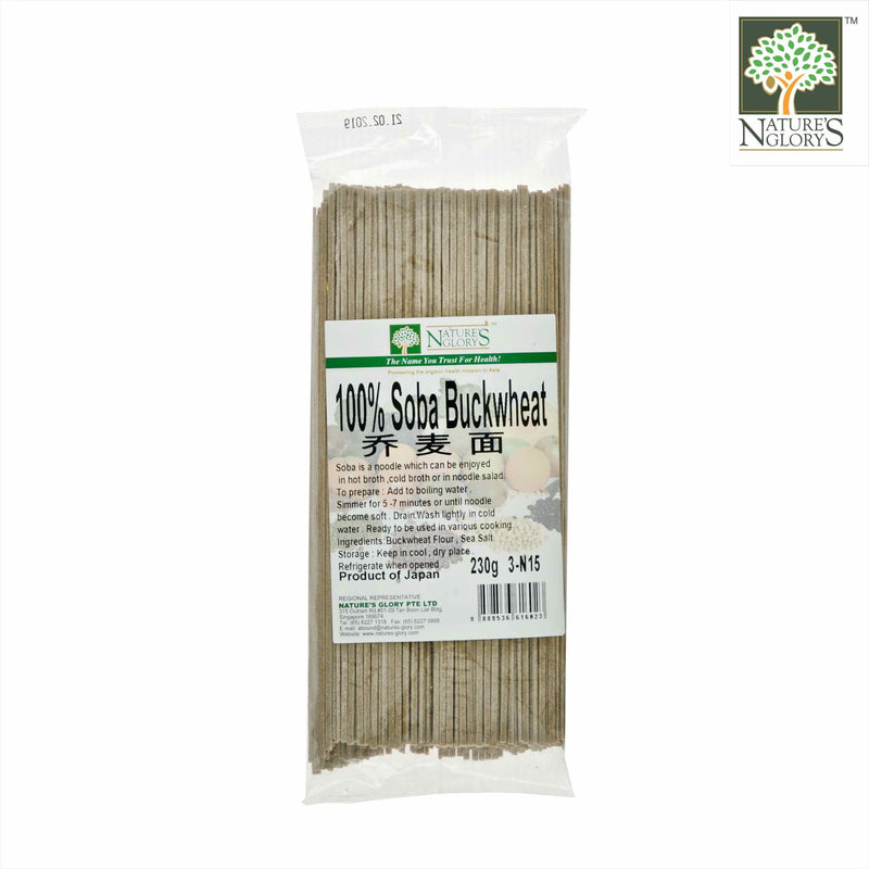 100% Soba (Buckwheat) Nature's Glory 230g