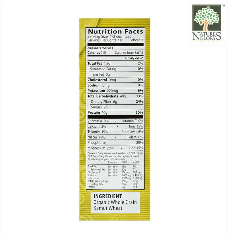 100% Wholegrain Kamut Elbows Pasta Eden Organic 396g - View 1