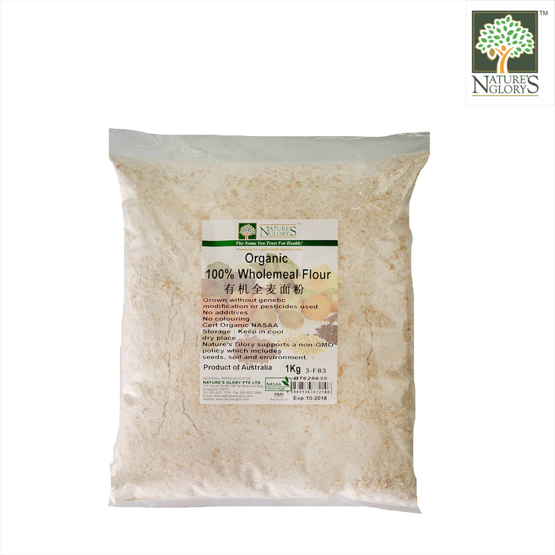 100%Wholemeal Flour Nature's Glory 1kg OG. (NA 8131P)