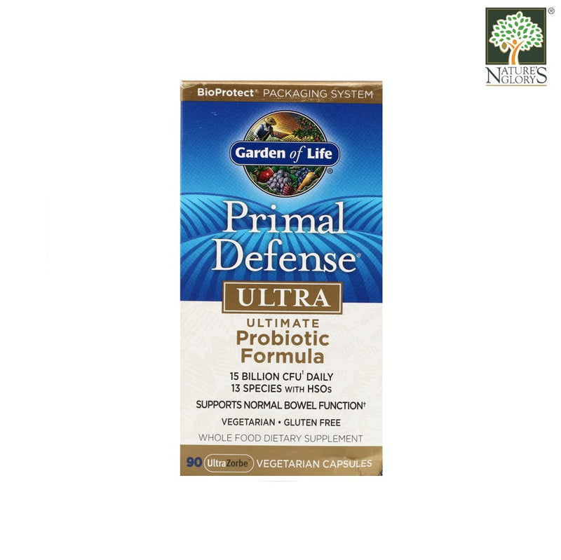 Garden of Life Primal Defense Ultra Probiotic 90 Vegan Caps Box Cover