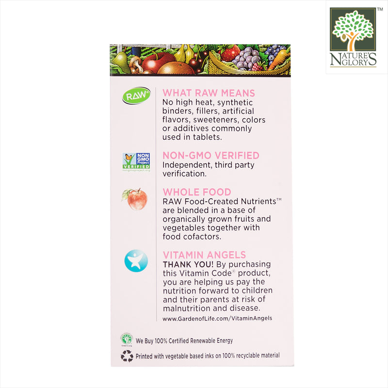 Garden of Life Vitamin Code 50 & Wiser Women 120/240 Vegan Caps Box Cover - Product Description View 2