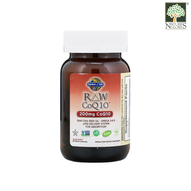 Garden of Life Vitamin Code Raw CoQ10 (200 mg) 60 Vegan Caps