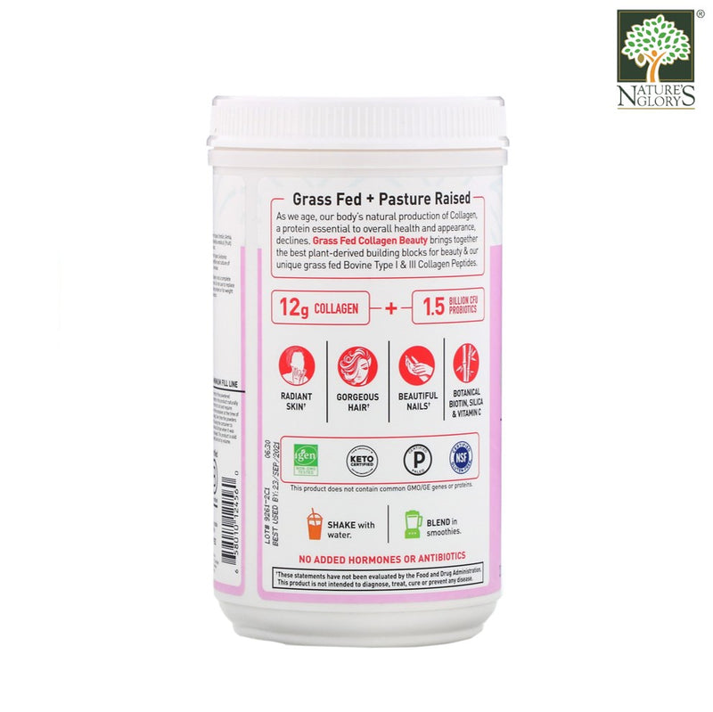 Garden of Life Grass Fed Collagen Beauty Strawberry Lemonade Powder 270g - Product Description View 2