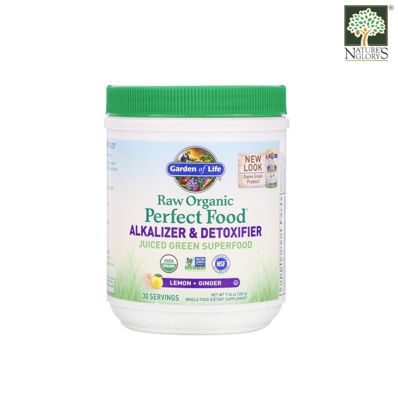 Garden of Life Organic Perfect Food Alkalizer and Detoxifier Lemon Ginger 282g