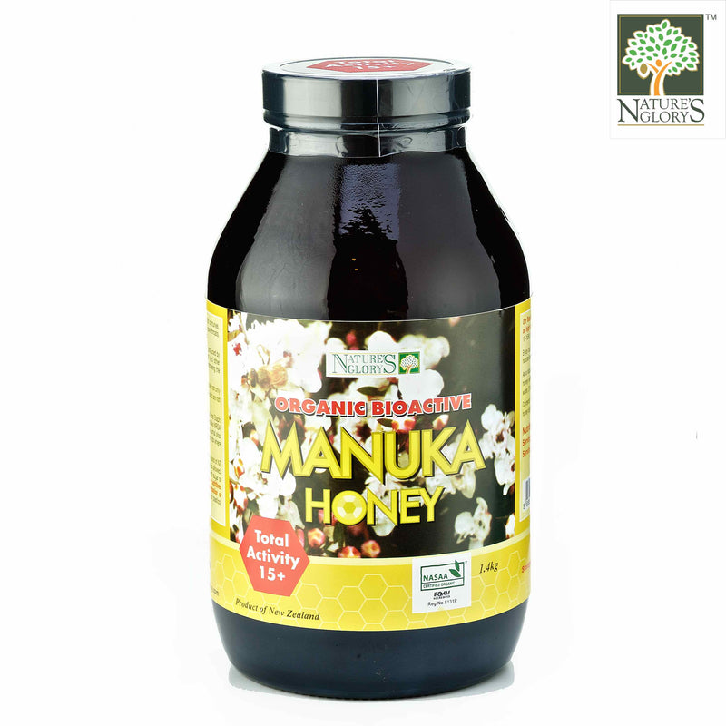 Manuka Honey (Bioactive) 15+ Nature's Glory 1.4kg Organic (NA 8131P)