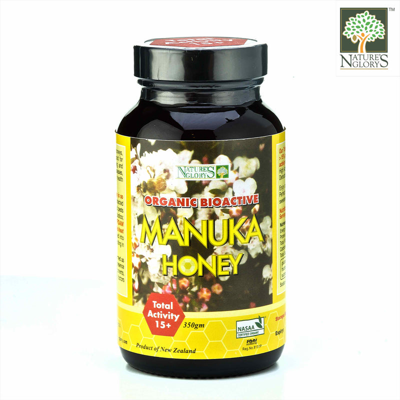 Manuka Honey (Bioactive) 15+ Nature's Glory 350g Organic (NA 8131P)
