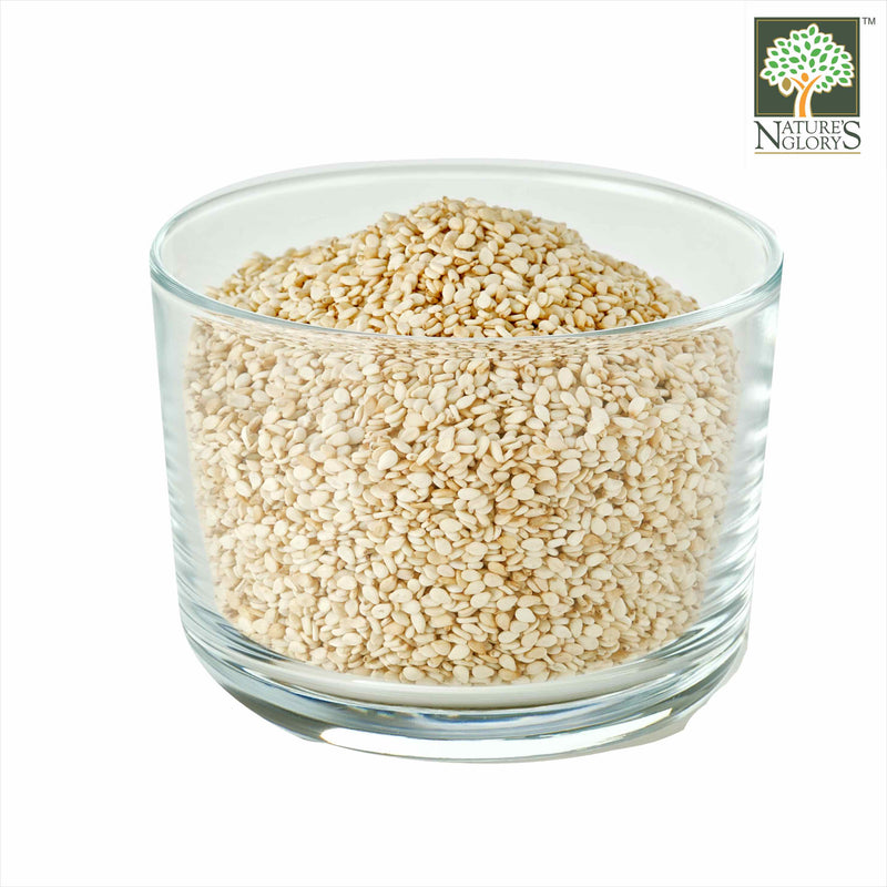 White Sesame Seed Nature's Glory Organic In A Bowl