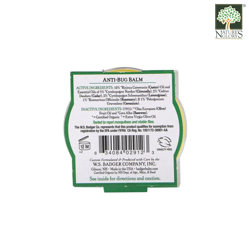 Anti-Bug Balm Badger Organic Natural 21g/56g