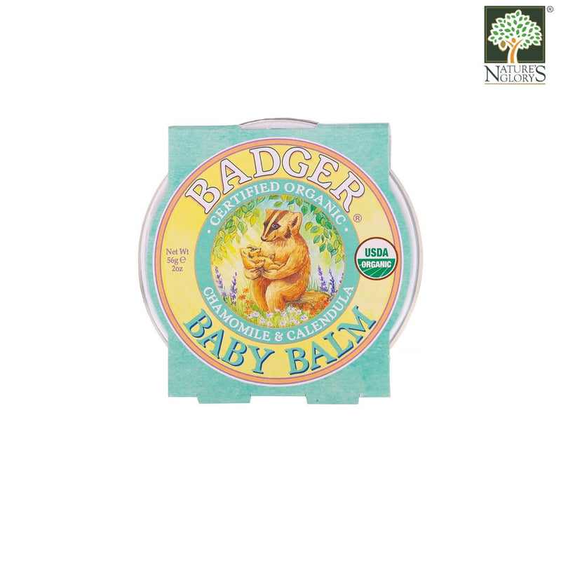 Baby Balm Badger Organic 56g - Front View
