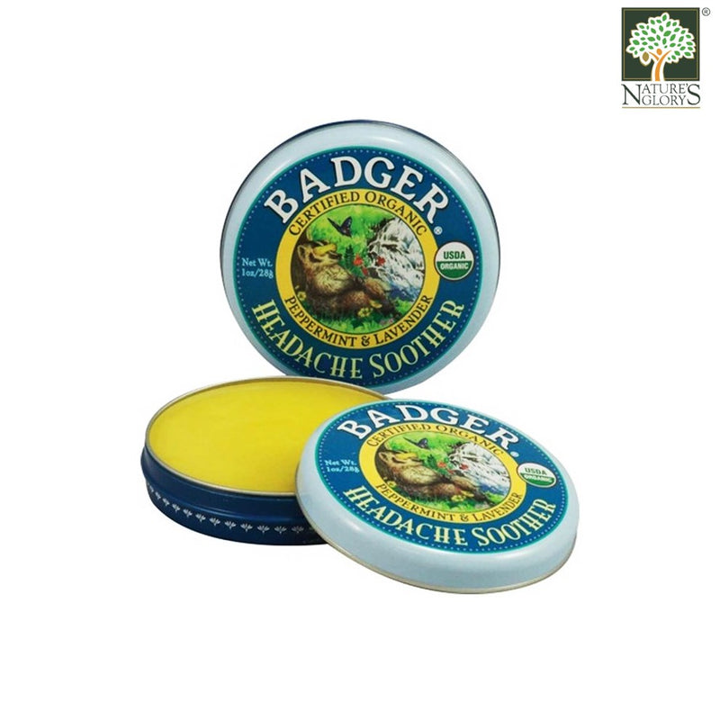 Headache Soother Balm Badger Organic Natural 28g