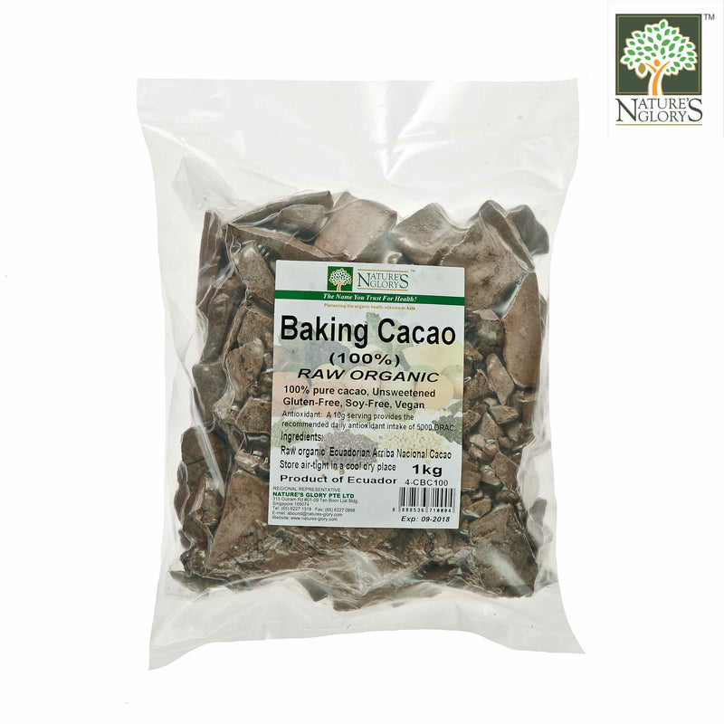 Organic Raw Baking Cacao (100%) Nature's Glory 1kg