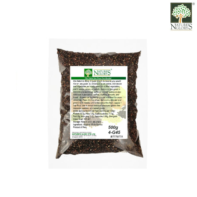 Black Quinoa Nature's Glory 500g/1kg Organic (Best before: Approx. 1 year)