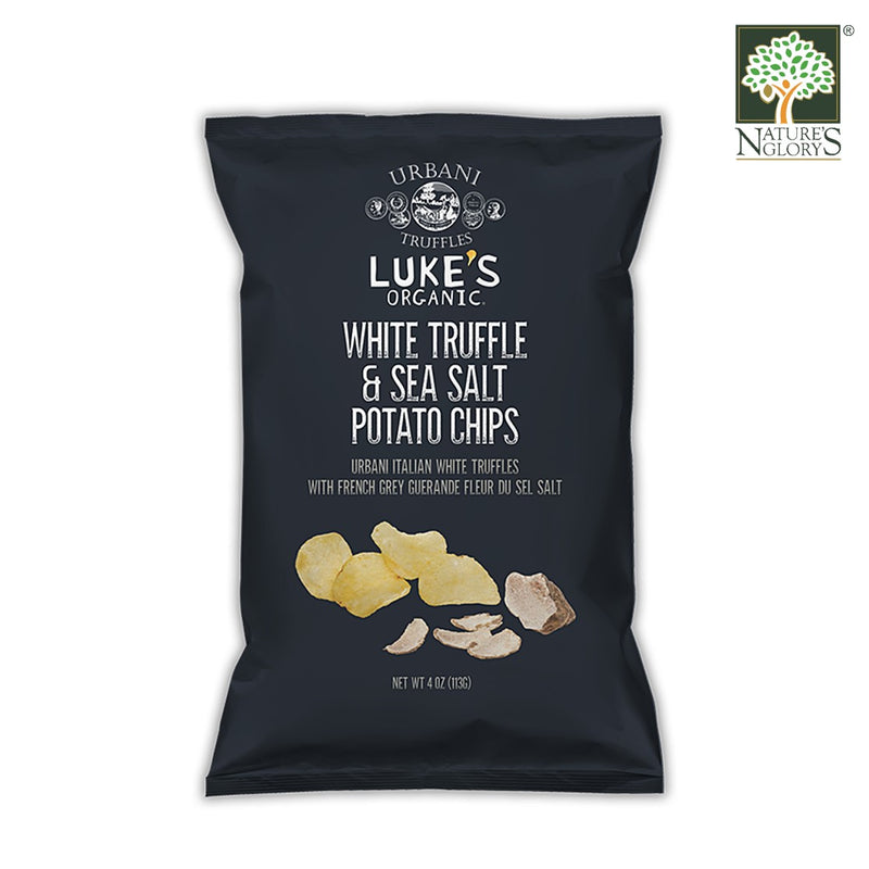 White Truffle & Sea Salt Potato Chips Luke's Organic Gluten Free 113g