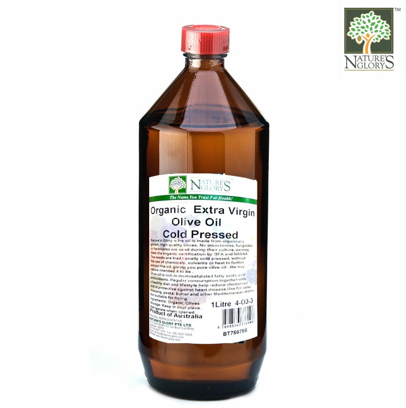 Organic Cold Pressed Extra Virgin Olive Oil Nature's Glory 330ml/1litre