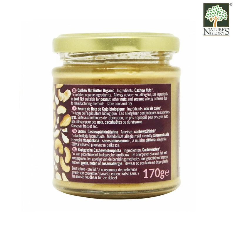 Cashew Nut Butter Smooth Biona Organic 170g - View 2