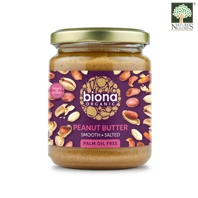 Peanut Butter Smooth Salted Biona Organic 250g