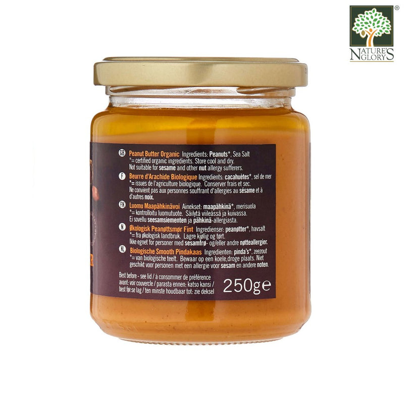 Peanut Butter Smooth Salted Biona Organic 250g - View 2