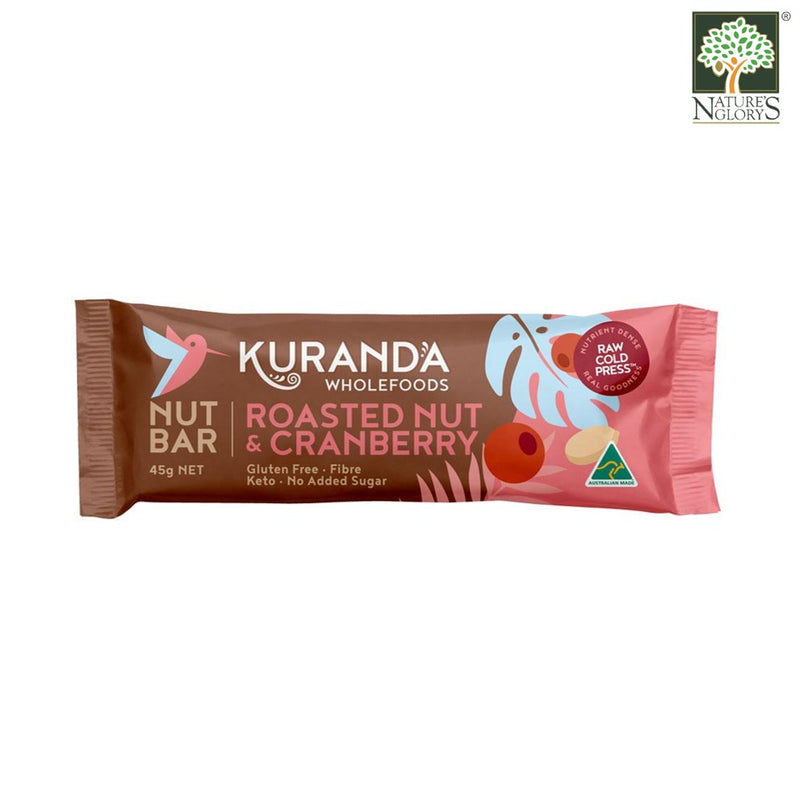 Roasted Nut & Cranberry Bar Kuranda 45g Gluten Free.