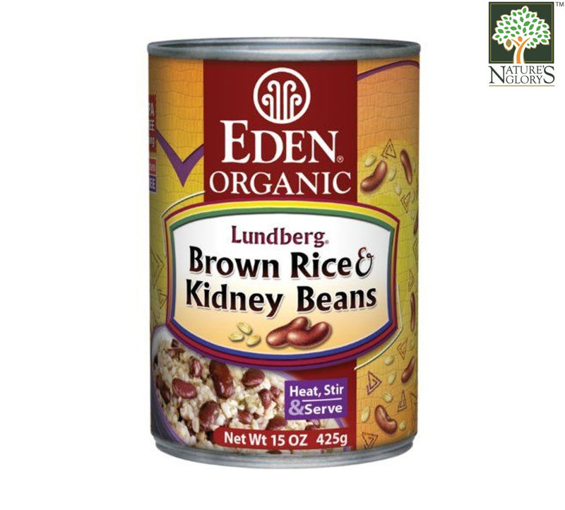 Brown Rice & Kidney Beans, Organic Eden 425g