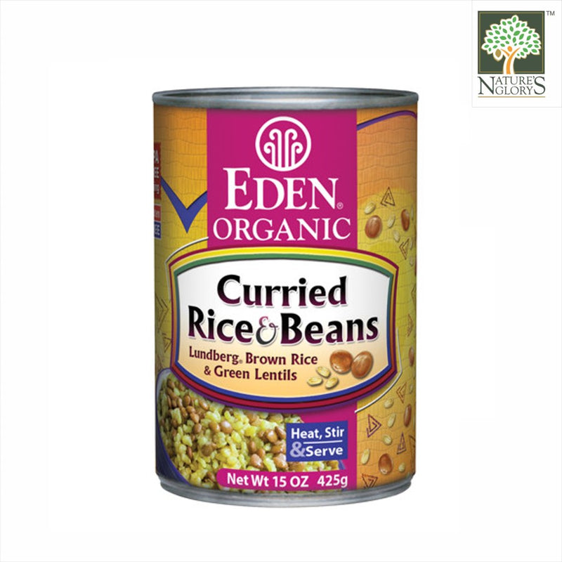 Curried Rice & Green Lentils Beans, Organic Eden 425g
