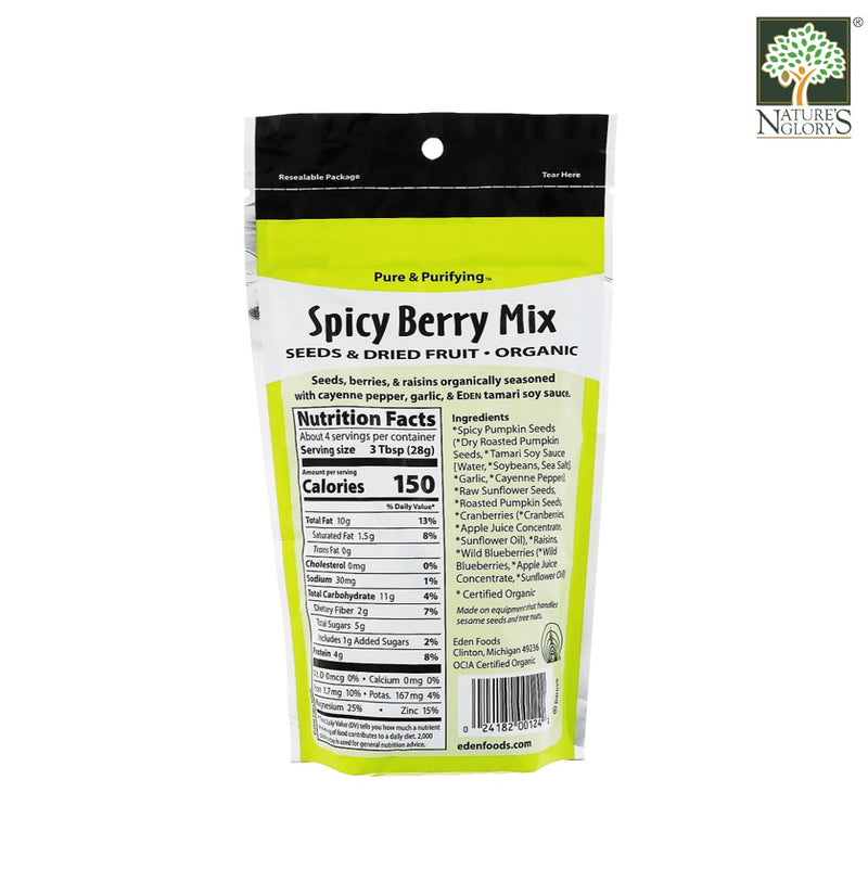 Spicy Berry Mix Eden 113g Organic - Back View
