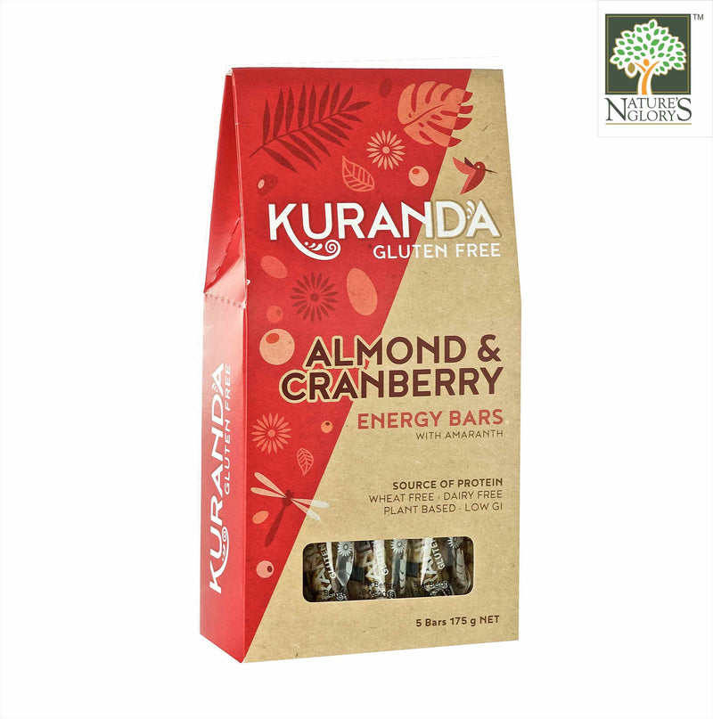 Almond & Cranberry Energy Bar, Kuranda Gluten Free 175g