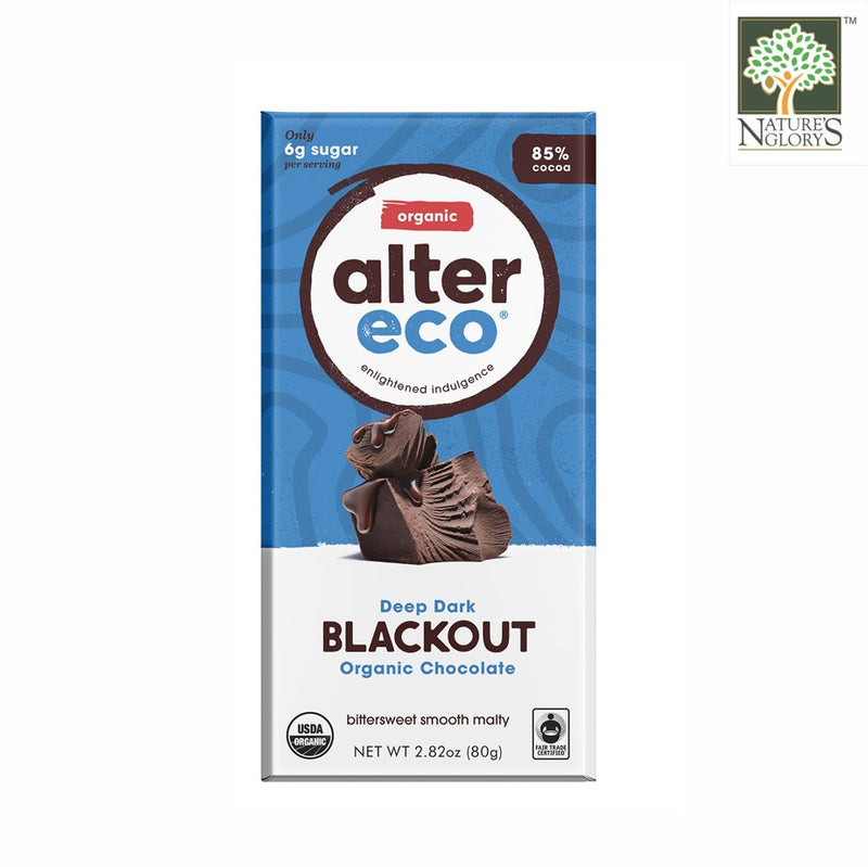 Deep Dark Blackout Organic Chocolate 85% Cocoa, Alter Eco 80g