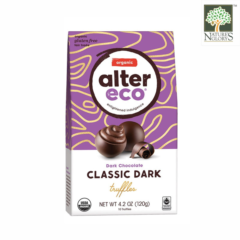 Alter Eco Dark Chocolate Classic Dark Truffles 120g