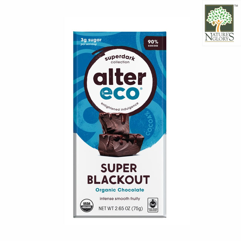 Deepest Dark Super Blackout Organic Chocolate Bar Alter Eco 80g