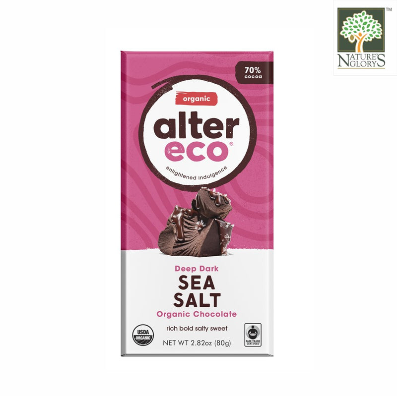 Alter Eco Dark Chocolate Sea Salt Bar 80g