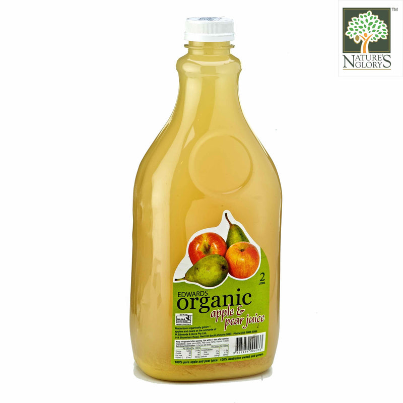 Apple & Pear Juices Edwards 2 litres Organic