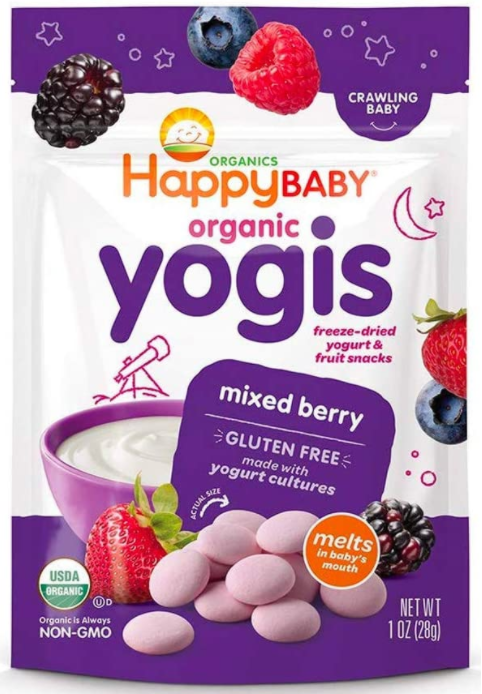 Mixed Berry Happy Baby Yogis Organic Snack 28g