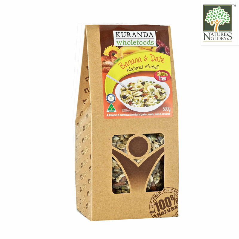 Banana & Date (With Amaranth) Natural Muesli Kuranda Gluten Free 500g