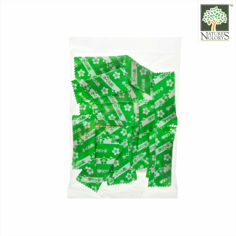 Barley Malt with Green Tea Candy, Nature's Glory 15pcs - Back View