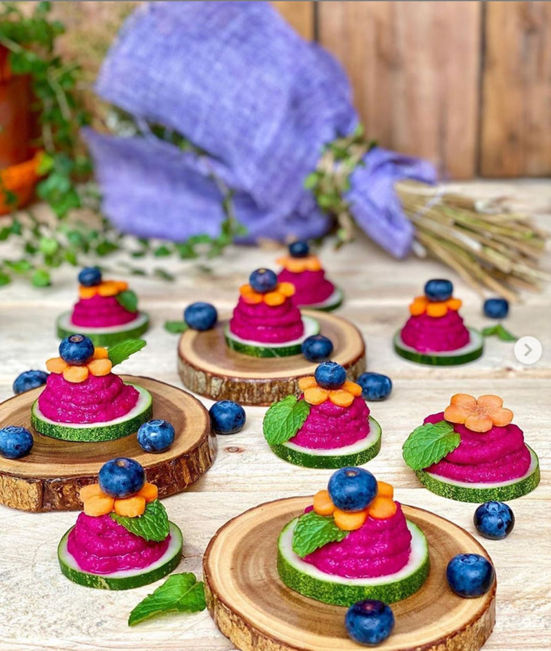 Beetroot Hummus Appetizer