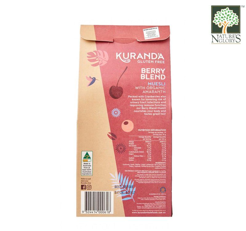 Berry Blend (With Amaranth) Natural Muesli Kuranda Gluten Free 500g
