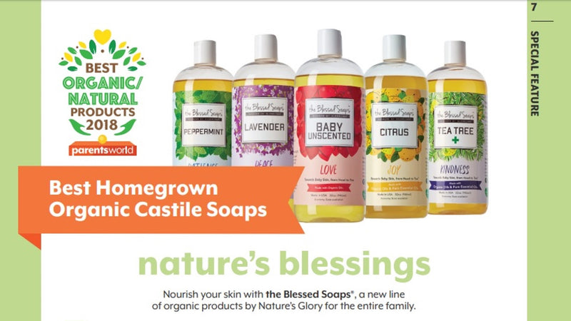 The Blessed Soap® Best Homegrown Organic Castile Soaps Award by Parents World