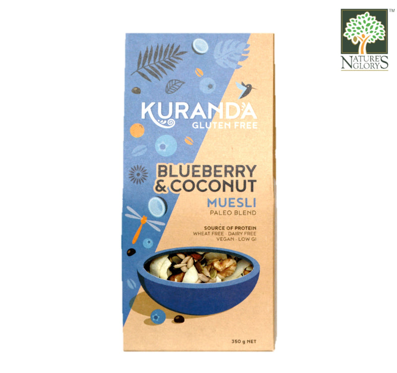 Blueberries And Coconut Paleo Blend Natural Muesli Gluten Free 500g