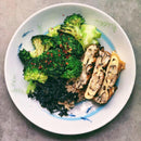 Broccoli with Shiitake Mushroom Omelette