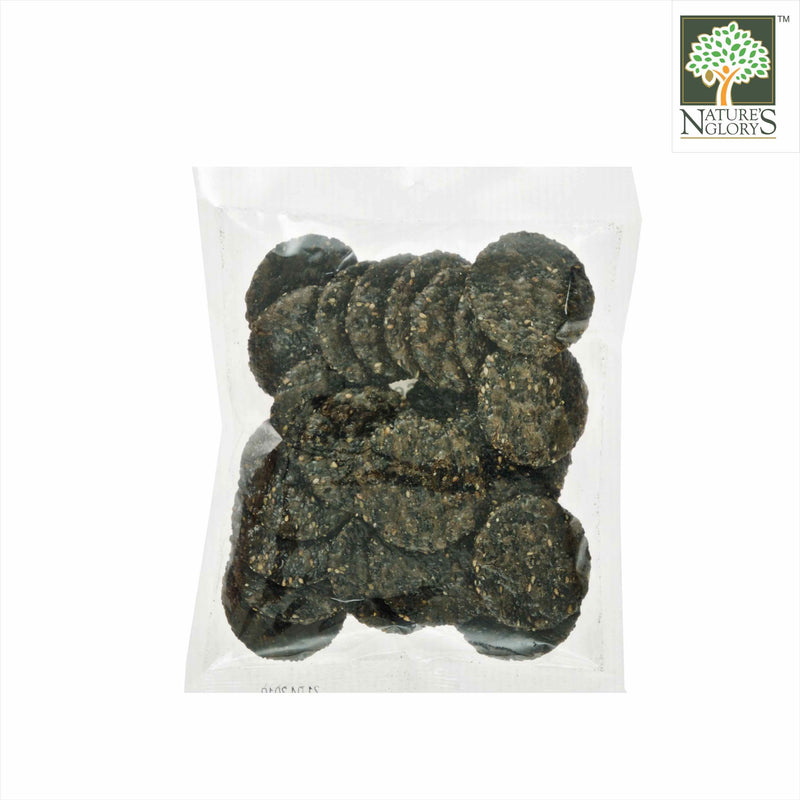 Brown Rice Cracker Black Sesame Nature's Glory 75g - Back View
