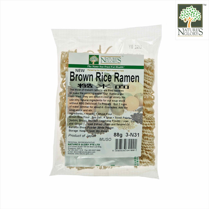 Brown Rice Ramen with Soup Stock Nature's Glory 88g