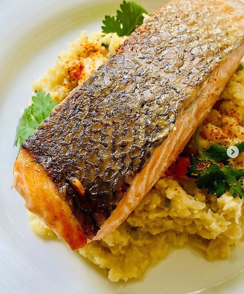 Salmon Fillet with Cauliflower Mash