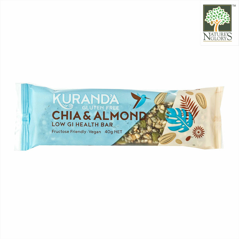 Chia & Almond Low GI Bar, Kuranda Gluten Free 40g