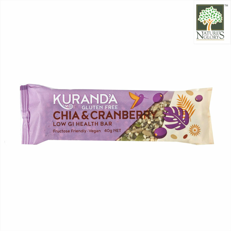 Chia & Cranberry Low GI Bar Kuranda Gluten Free  40g