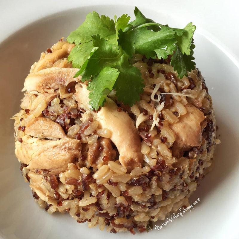 Shredded Chicken Cooked with Mixed Rice