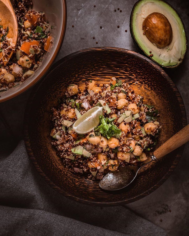 Chickpeas/Garbanzo with Quinoa Salad