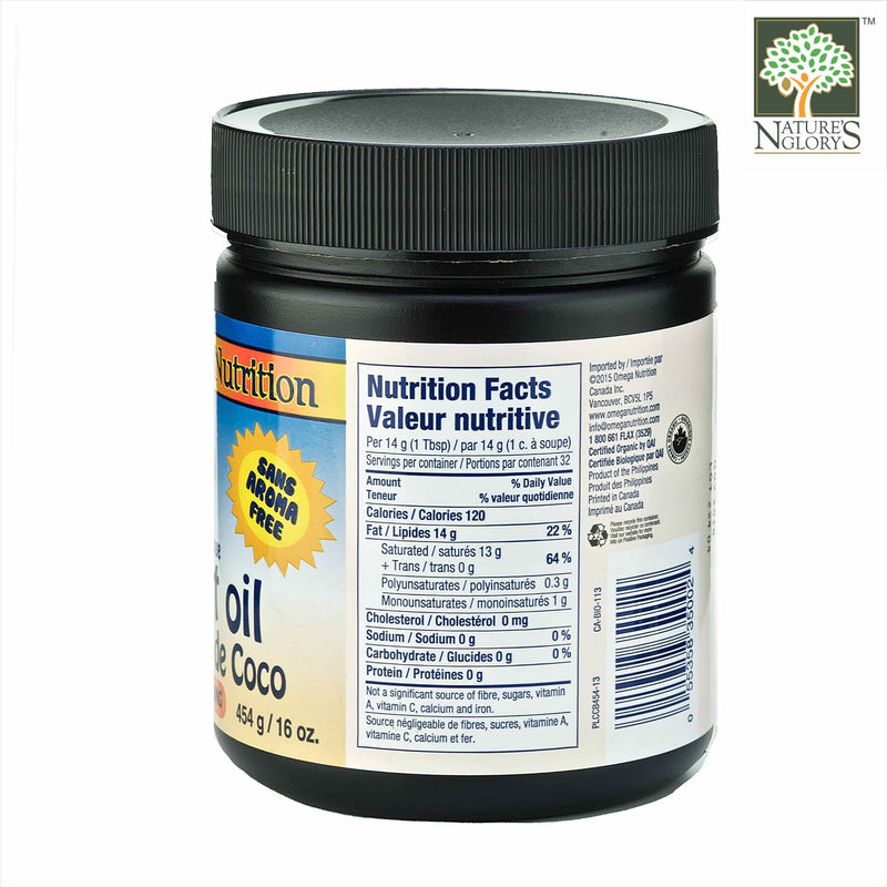 Coconut Oil Omega Nutrition 454g Organic - View 1